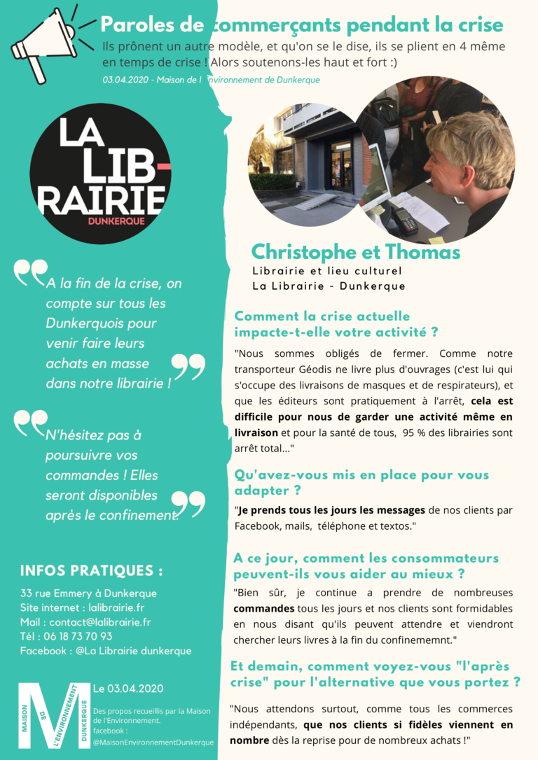 Christophe et Thomas de La Librairie