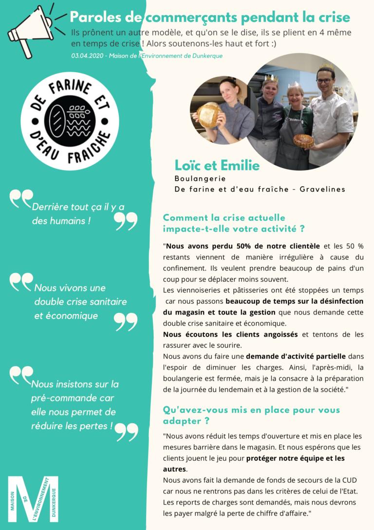 Loïc et Emilie de De Farine et d'Eau Fraîche