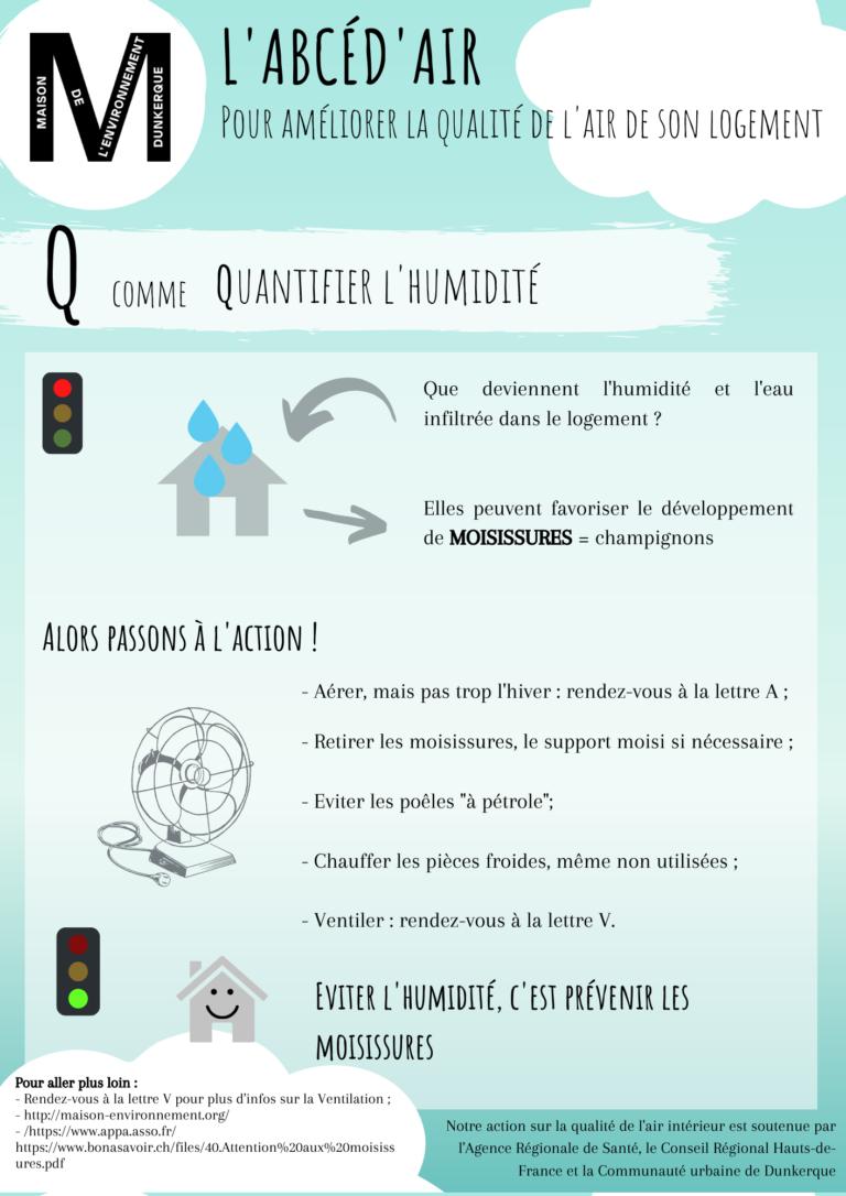 Q comme Quantifier l'humidité