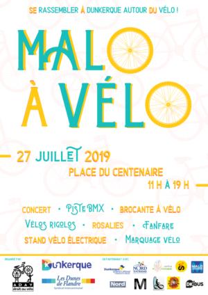 Malo à Vélo- 27 juillet 2019 - Affiche [PNG]